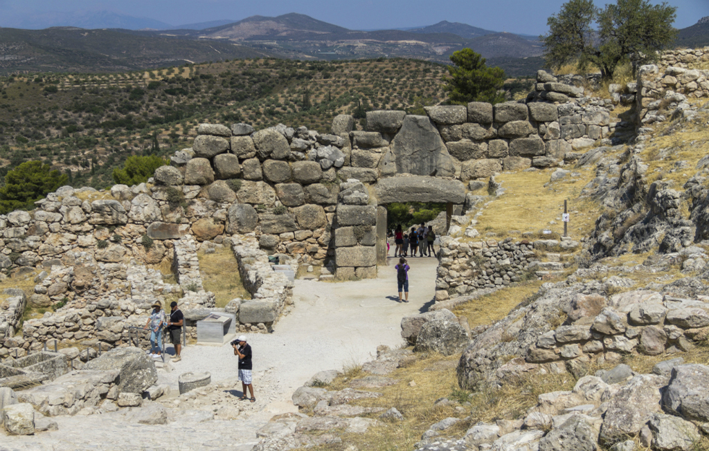 Archeological site Mycenae in Greece
