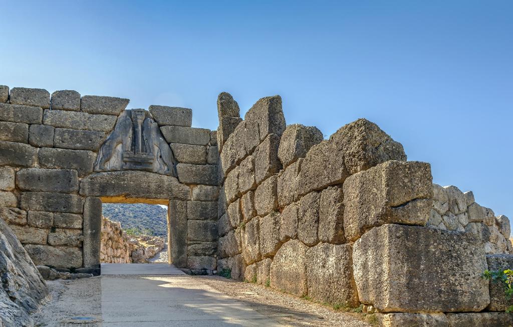 The Lion Gate in Mycenae, Greece