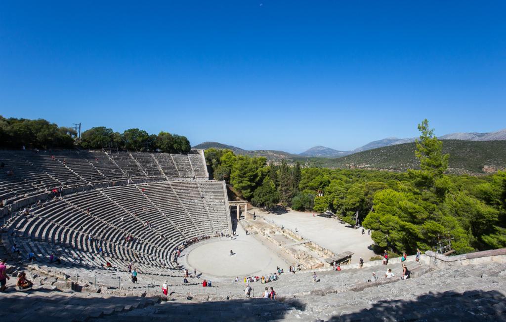 Theatre of Epidaurus, Pelopennese, Greece