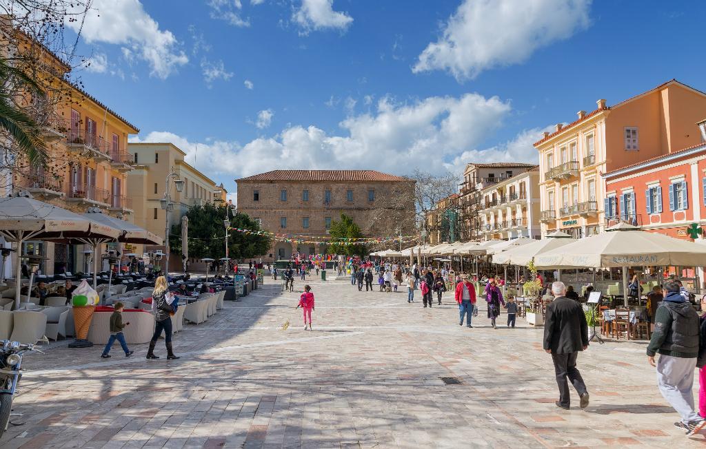 Constitution Square in Nafplio