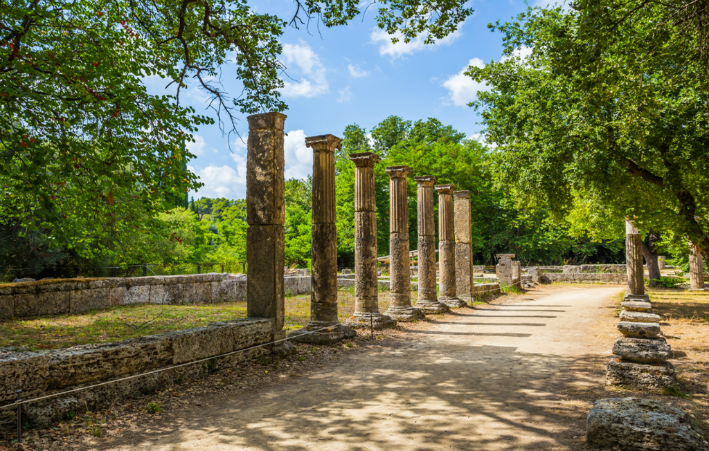 Ruins in Ancient Olympia, Peloponnes, Greece